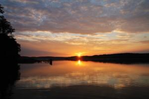 Sonnenuntergang Zechliner See