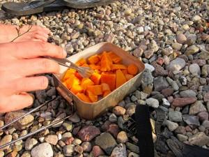 Moehren-Suesskartoffel-Pfanne