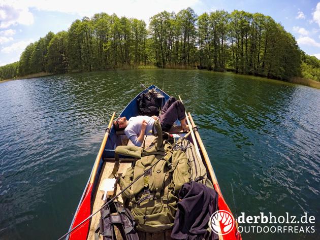 Derbholz Angeln auf dem Dranser See