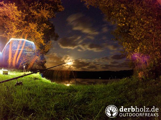 Derbholz Angeln Nachtaufnahmen Langzeitbelichtung