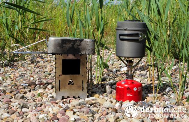 Derbholz Ratgeber Verpflegung Gas Kocher Hobo Stove