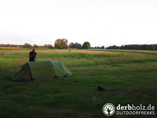 Derbholz Zelt mit ReRe