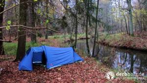 Zweimann Zelt am Wasser