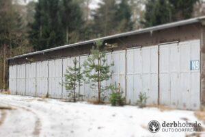 Derbholz MUNA Bunker Wolfsruh Farhzeughallen