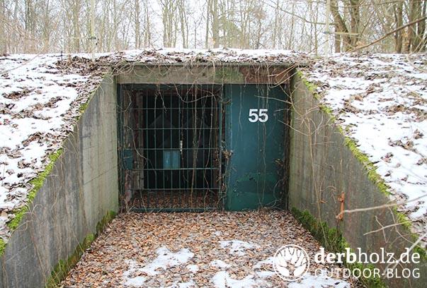 Derbholz MUNA Bunkeranlage Wolfsruh Bunker 55