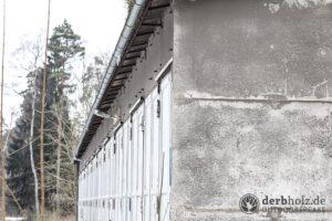 Derbholz MUNA Bunker Wolfsruh Fahrzeughalle