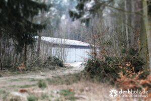 Derbholz MUNA Bunker Wolfsruh Halle im Wald
