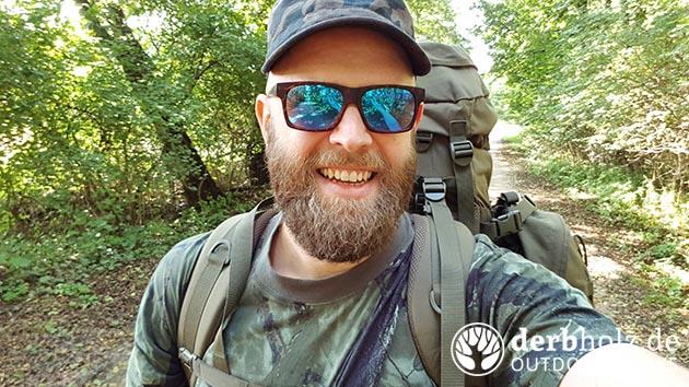 Derbholz Solo Camping ReRe geht in den Wald